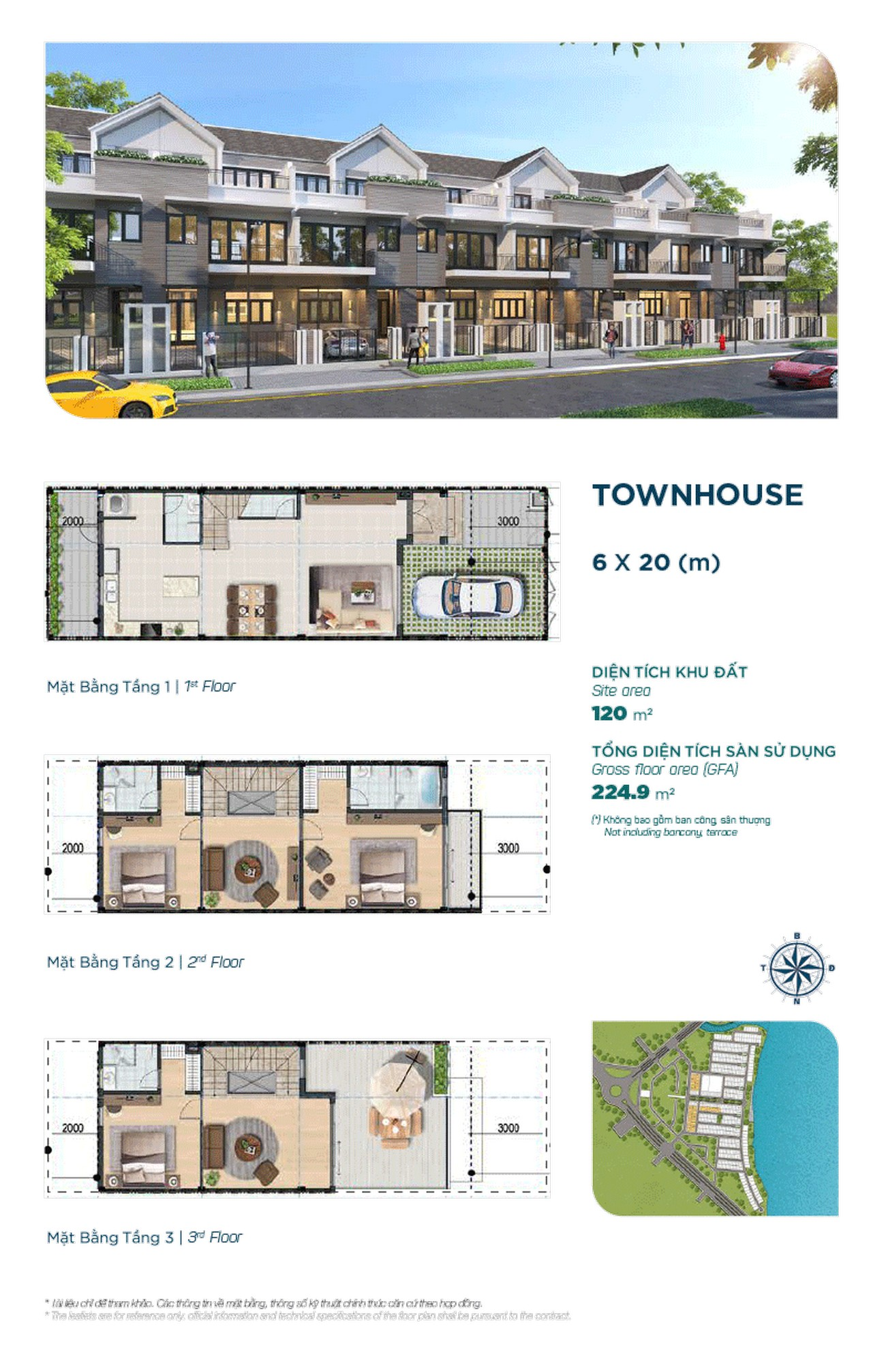 Townhouse The Elite 6x20m - Dự án Aqua City The Elite