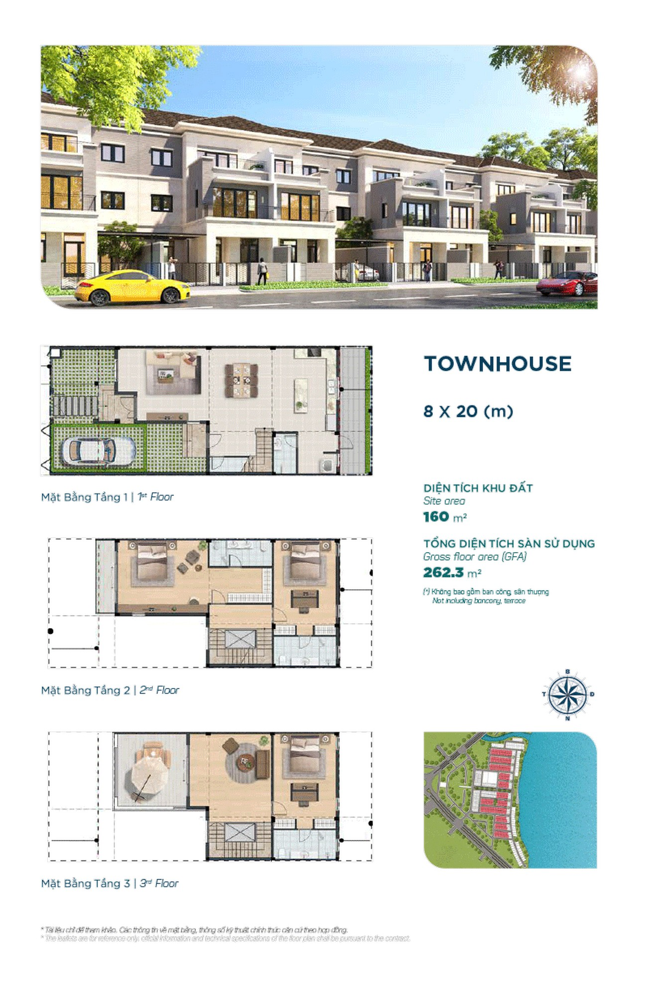 Townhouse The Elite 8x20m - Dự án Aqua City The Elite