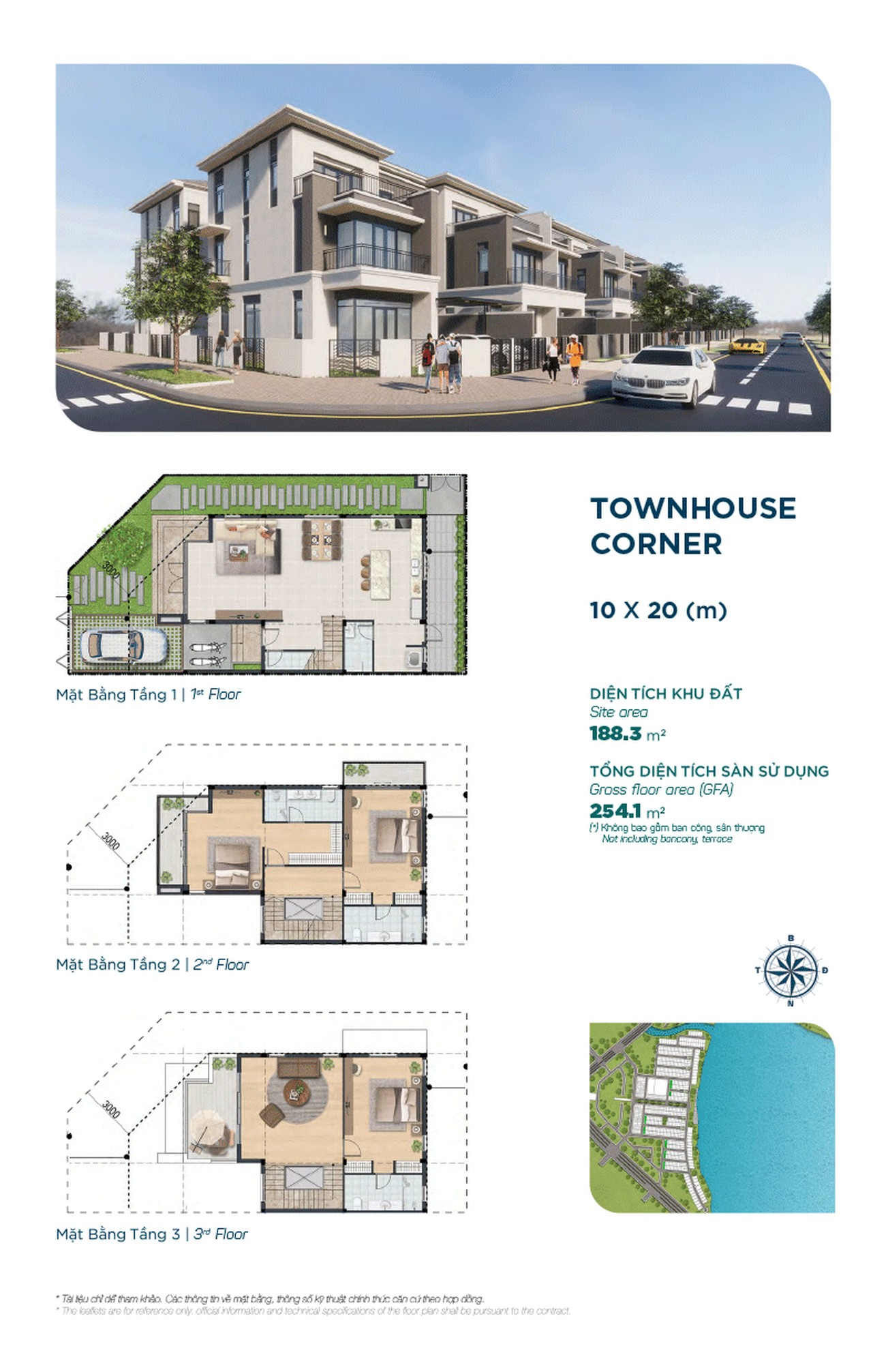 Townhouse The Elite 10x20m ( căn góc ) - Dự án Aqua City The Elite