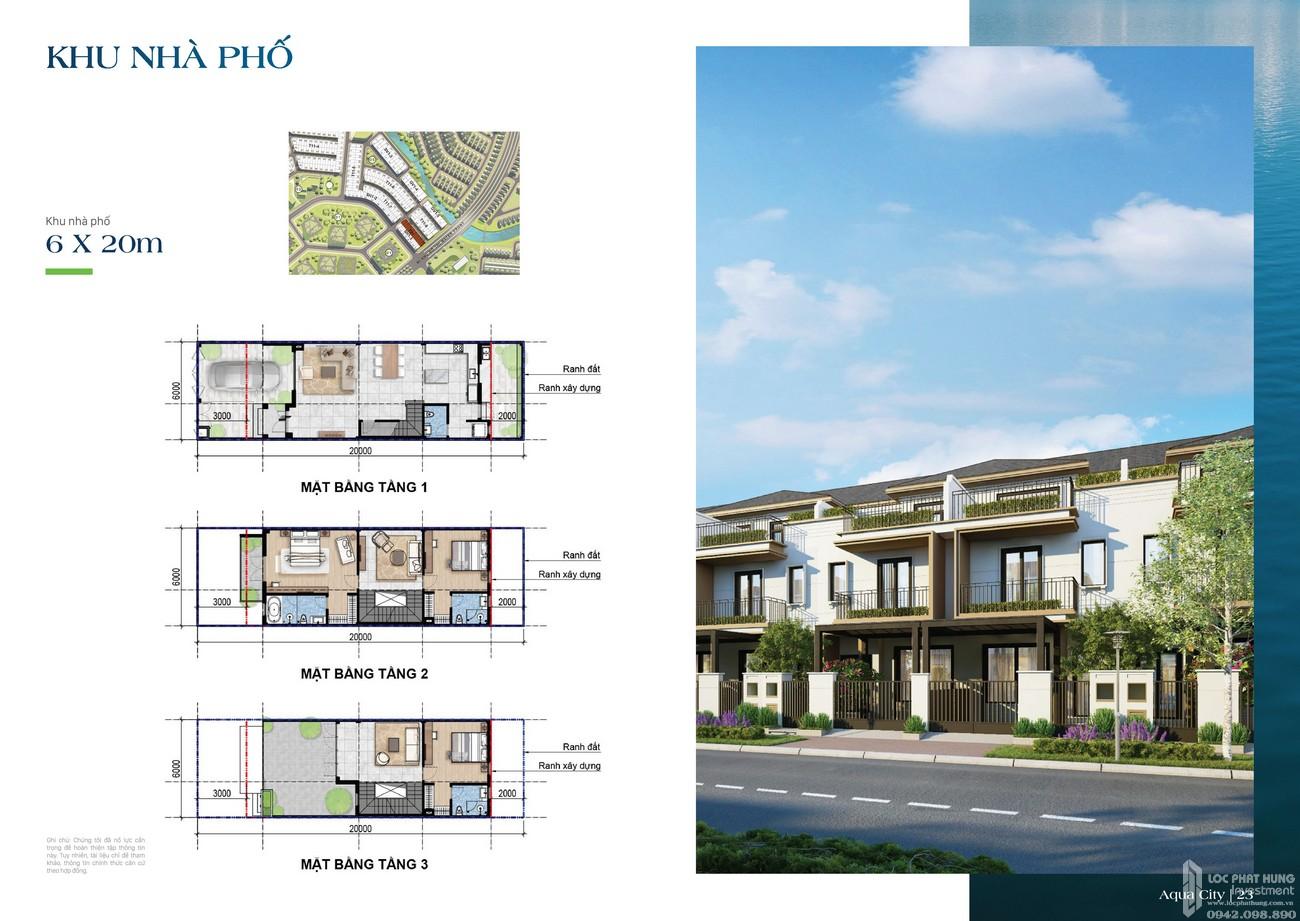 Khu nhà phố 6x20m - dự án The Suite