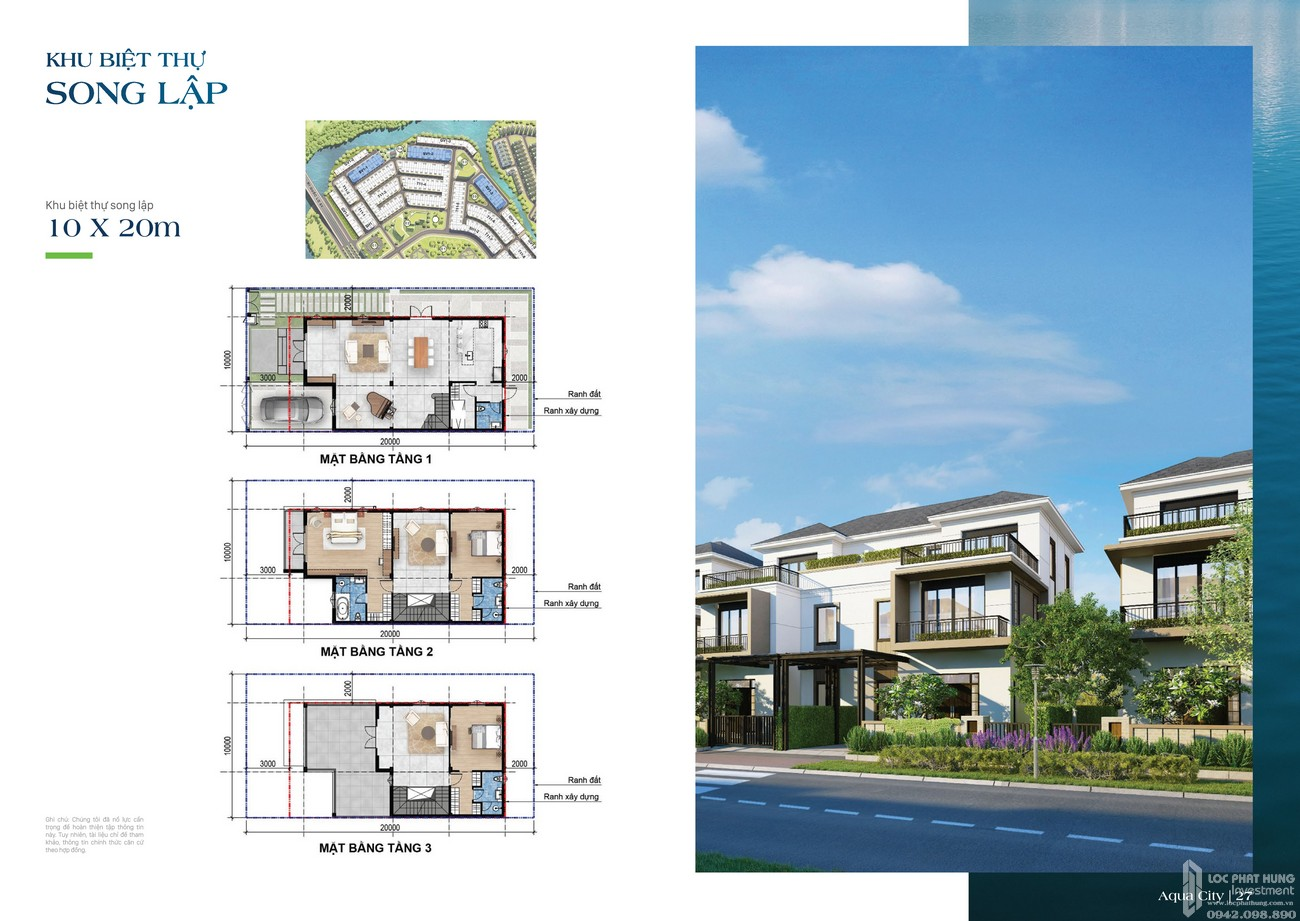 Khu biệt thự song lập 10x20m - dự án The Suite
