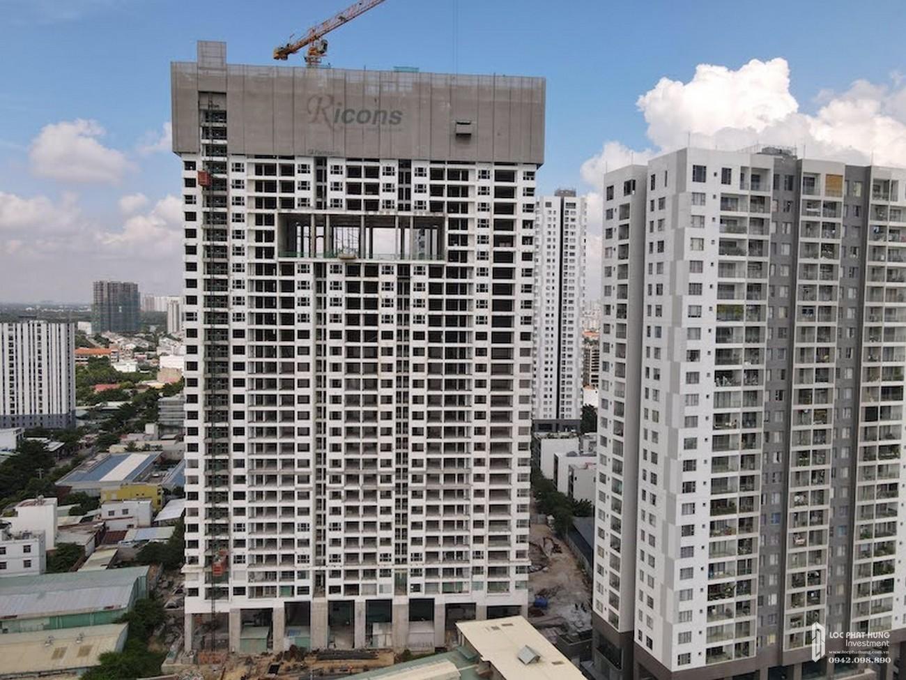 Tiến độ dự án căn hộ chung cư Sky 89 Quận 7 Đường Hoàng Quốc Việt chủ đầu tư An Gia Investment tháng 10