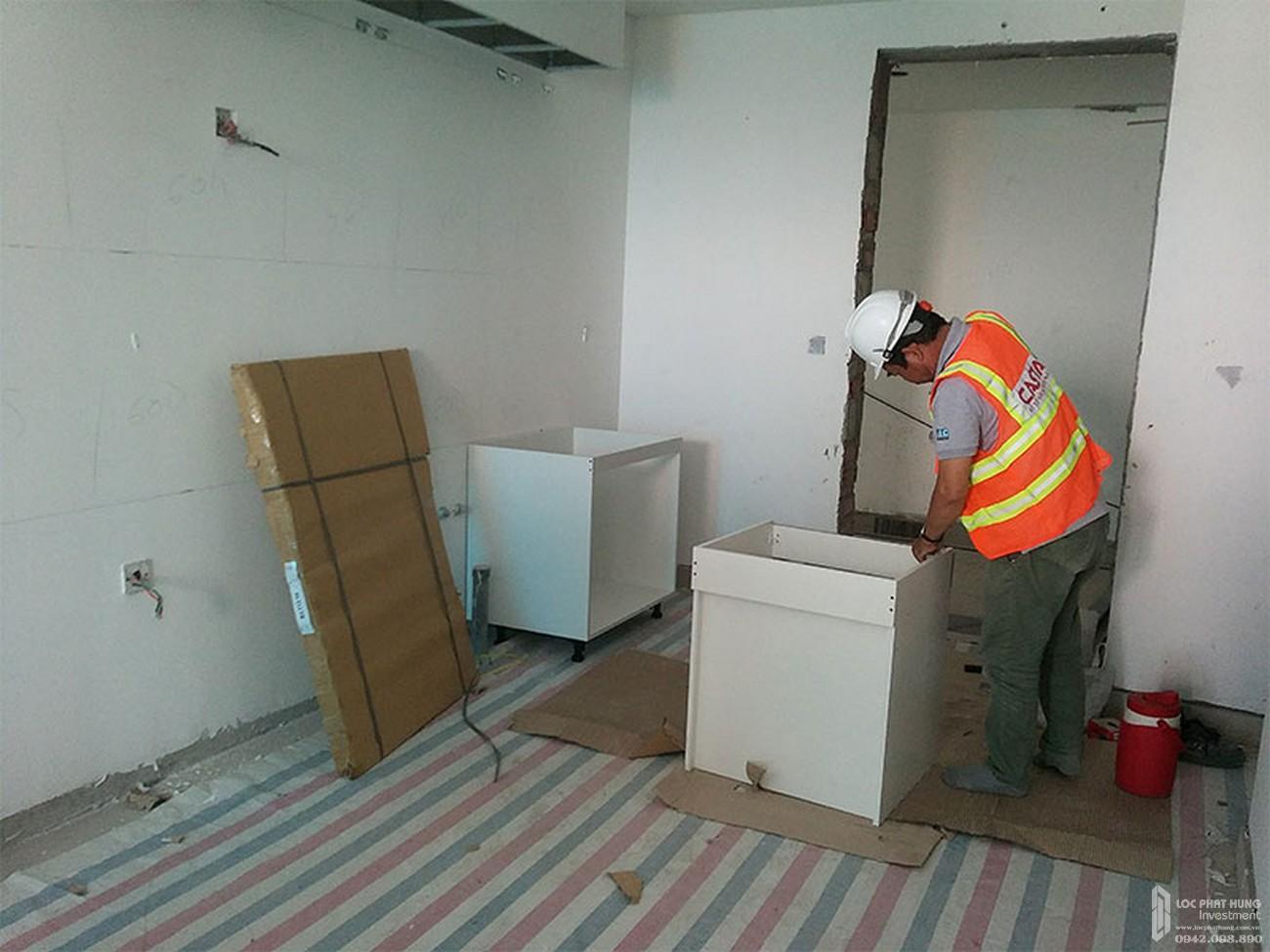 Lắp đặt tủ bếp tầng 18 dự án căn hộ chung cư River Panorama Quận 7 tháng 03/2020