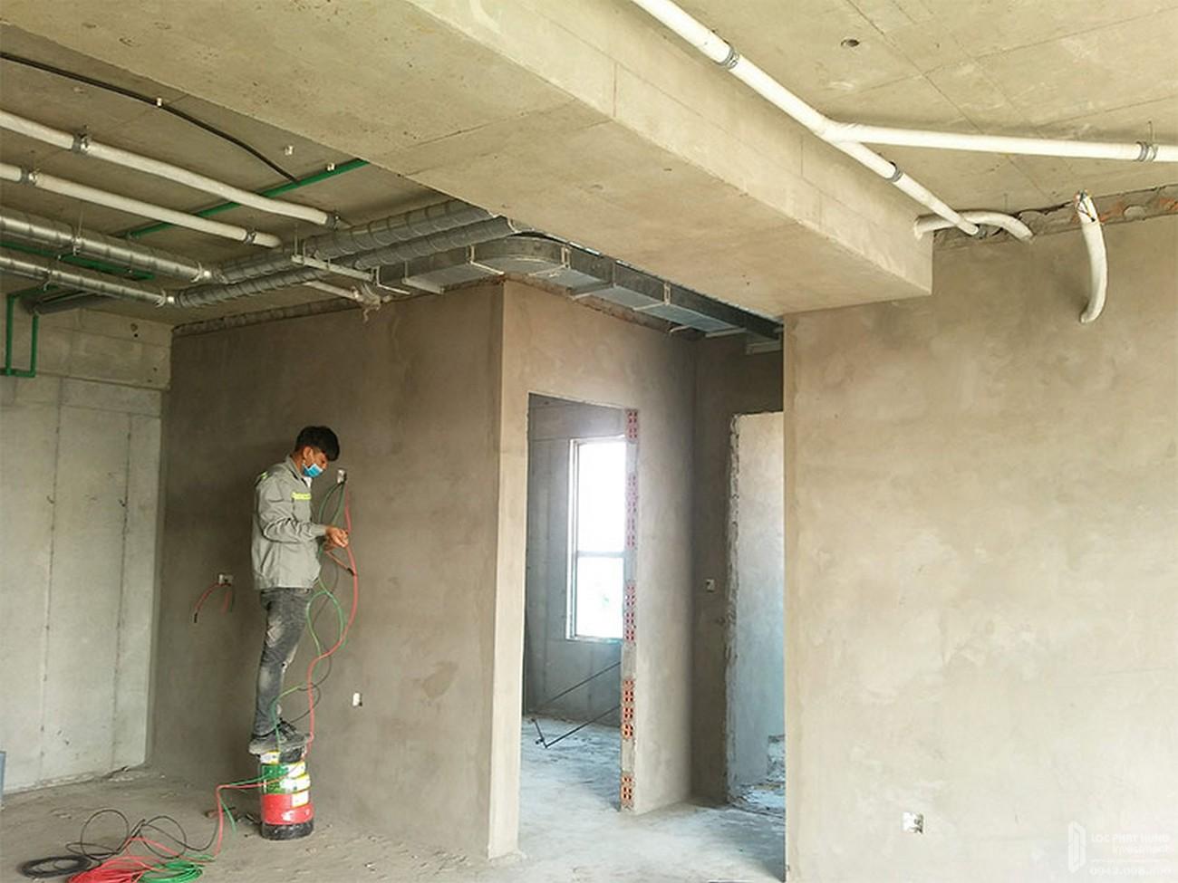 Tô tường tầng 30 dự án căn hộ River Panorama Quận 7 tháng 03/2020
