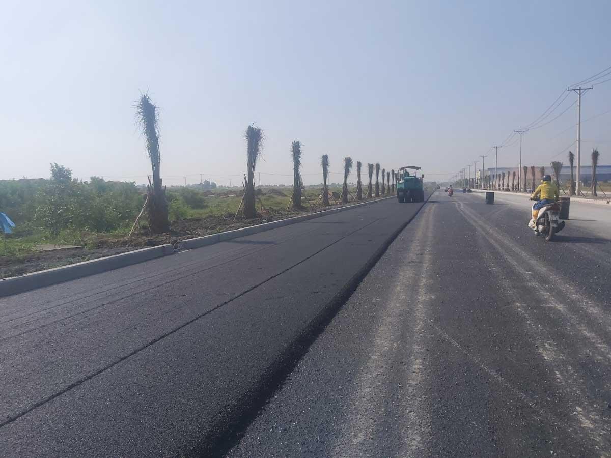 Tiến độ thi công The Sol City - Thi công Đại lộ Thắng Lợi 60m