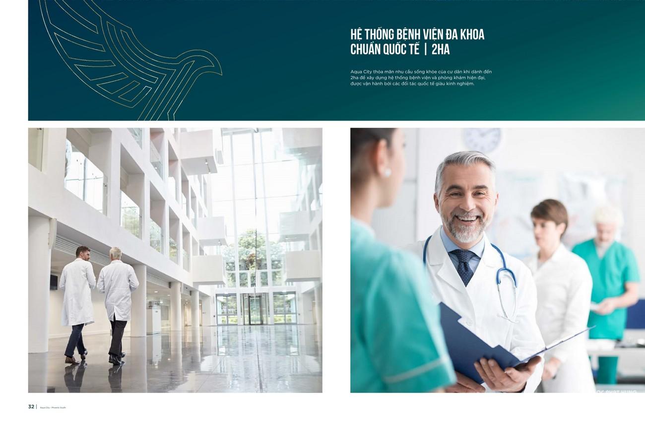 Hệ thống bệnh viên đa khoa chuẩn quốc tế 2ha nhằm thỏa mãn nhu cầu sống khỏe của dân cư
