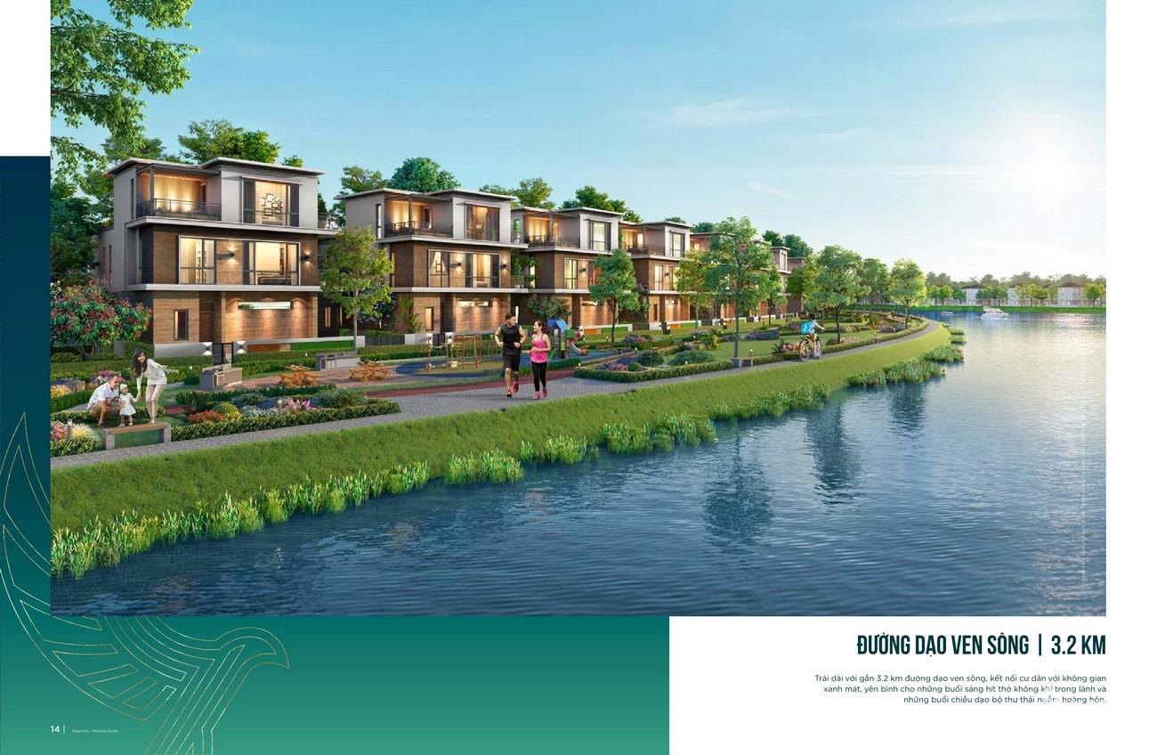 Đường dạo ven sông 3,2 km kết nối dân cư với không gian xanh mát, yên bình cho những buổi sáng hít thở không khí trong lành