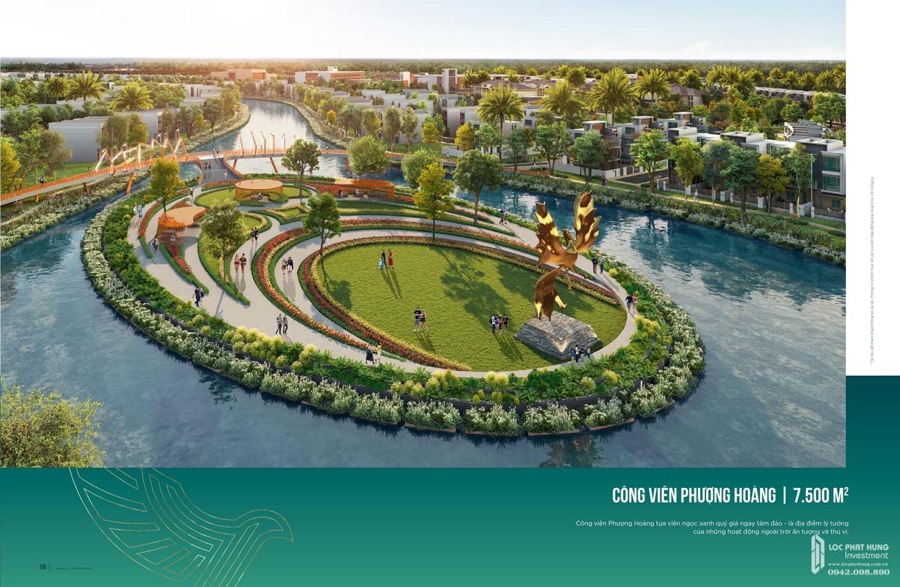 Công viên Phượng Hoàng 7500 m2 tựa như viên ngọc quý ngay trên tâm đảo - là địa điểm lý tưởng của hoạt động ngoài trời