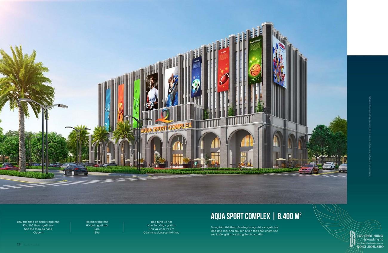 Aqua Sport Complex rộng 8.400 m2 đa năng trong nhà và ngoài trời, đáp ứng nhu cầu rèn luyện thể chất sức khỏe cho cư dân