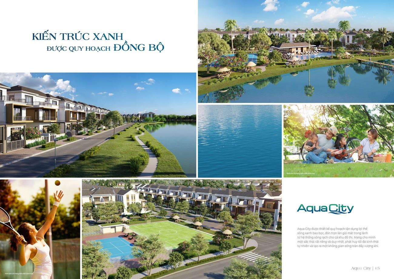Tiện ích dự án nhà phố Aqua City The Suite Biên Hòa Đường Long Hưng nhà phát triển Novaland