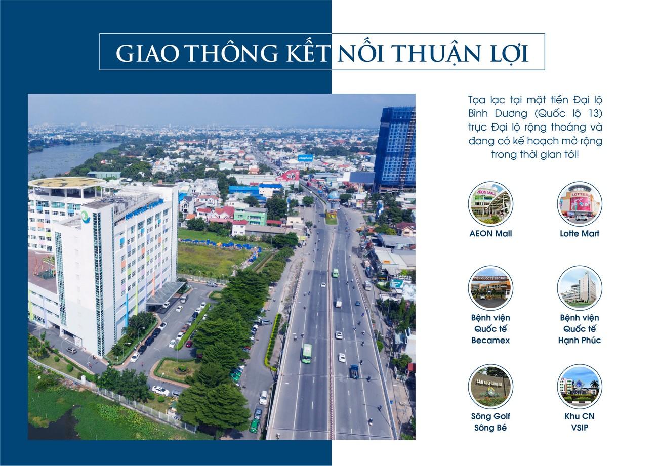 Vị trí địa chỉ dự án căn hộ chung cư Rivana Thuận An Đường Quốc lộ 13 chủ đầu tư Đạt Phước