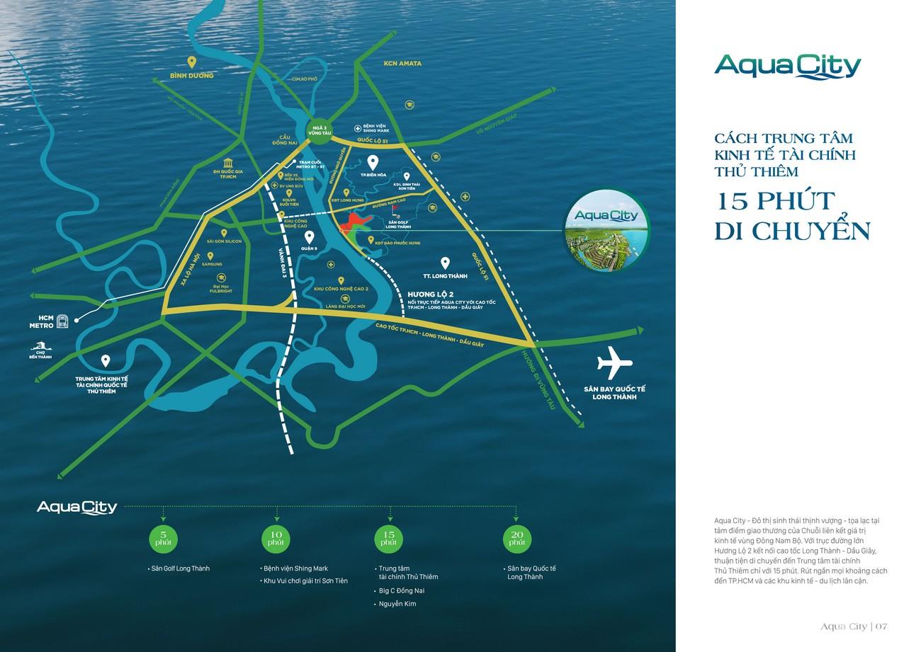 Vị trí địa chỉ dự án nhà phố Aqua City The Suite Biên Hòa Đường Long Hưng nhà phát triển Novaland