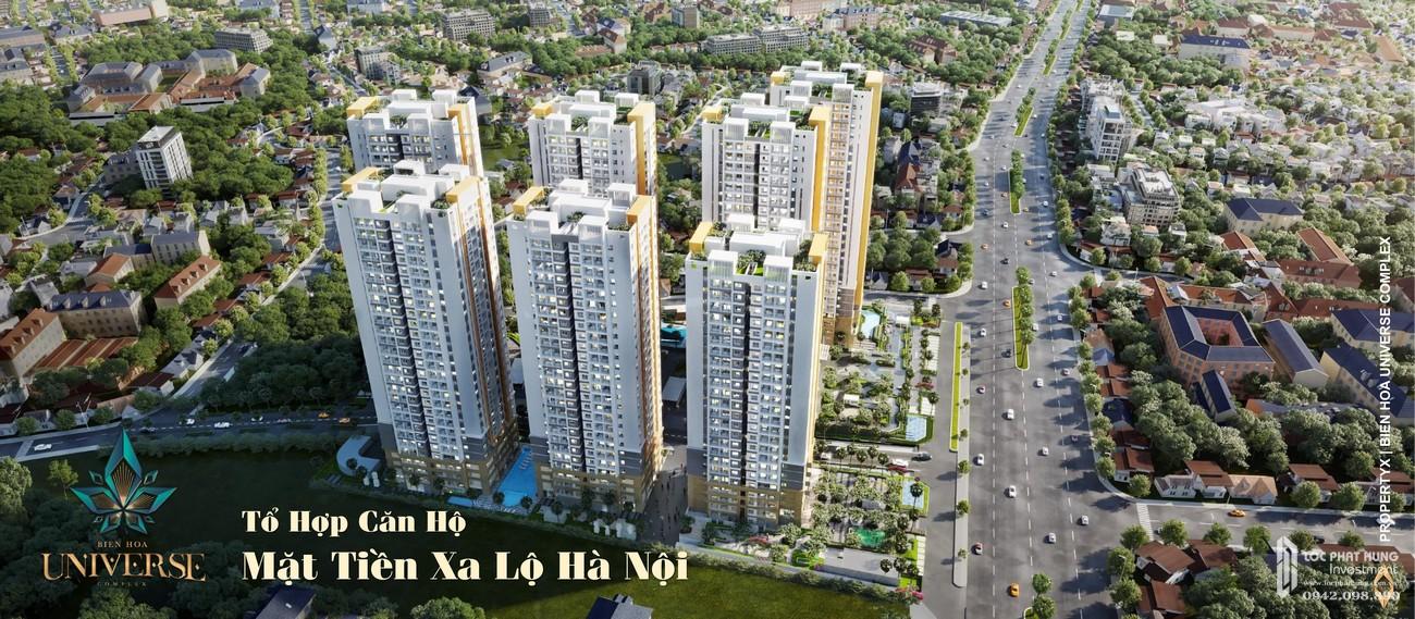 Vị trí địa chỉ dự án căn hộ chung cư Biên Hoà Universe Complex Biên Hoà Đường Xa lộ Hà Nội chủ đầu tư Hưng Thịnh