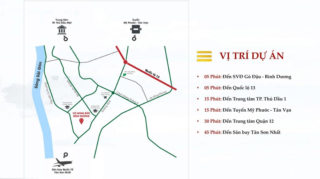 Vị trí địa chỉ dự án nhà phố Takara Residence Thủ Dầu Một Chánh Nghĩa chủ đầu tư Thành Nguyên