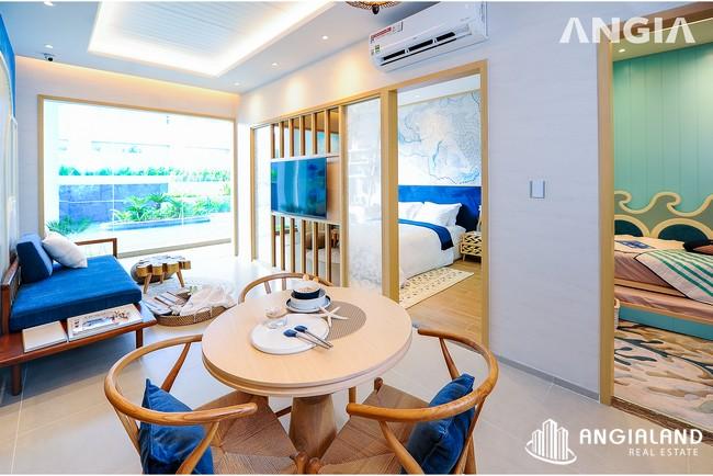 Phòng khách view 1 - Nhà mẫu 53m2 The Sóng Vũng Tàu