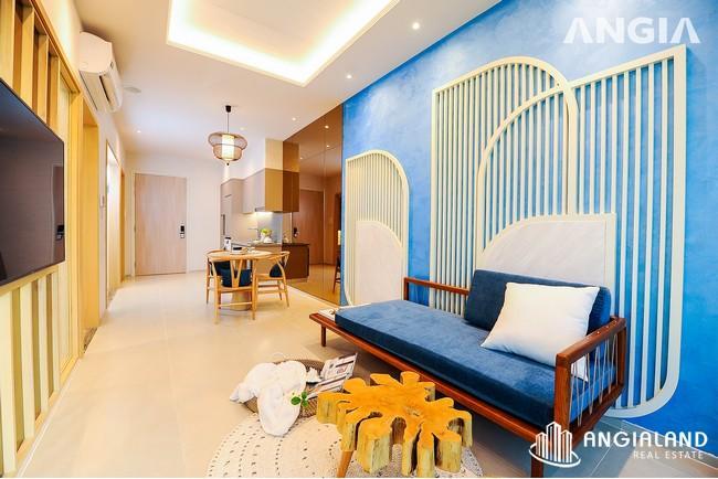 Phòng khách view 2 - Nhà mẫu 53m2 The Sóng Vũng Tàu