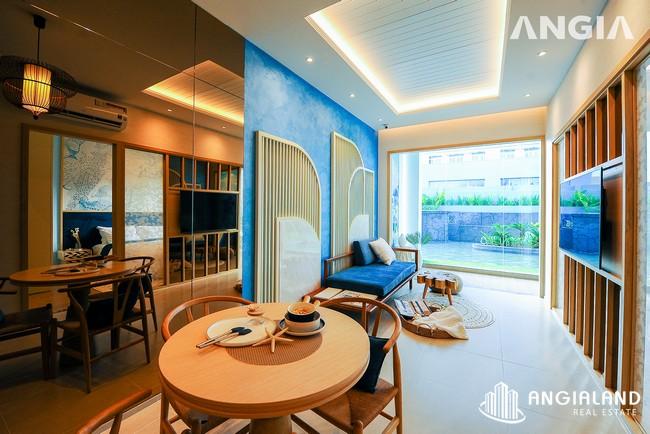 Phòng khách view 3 - Nhà mẫu 53m2 The Sóng Vũng Tàu