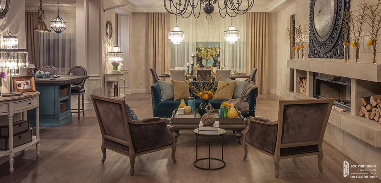 Không gian nội thất tinh tế phong cách hiện đại của biệt thự The Grand Villas