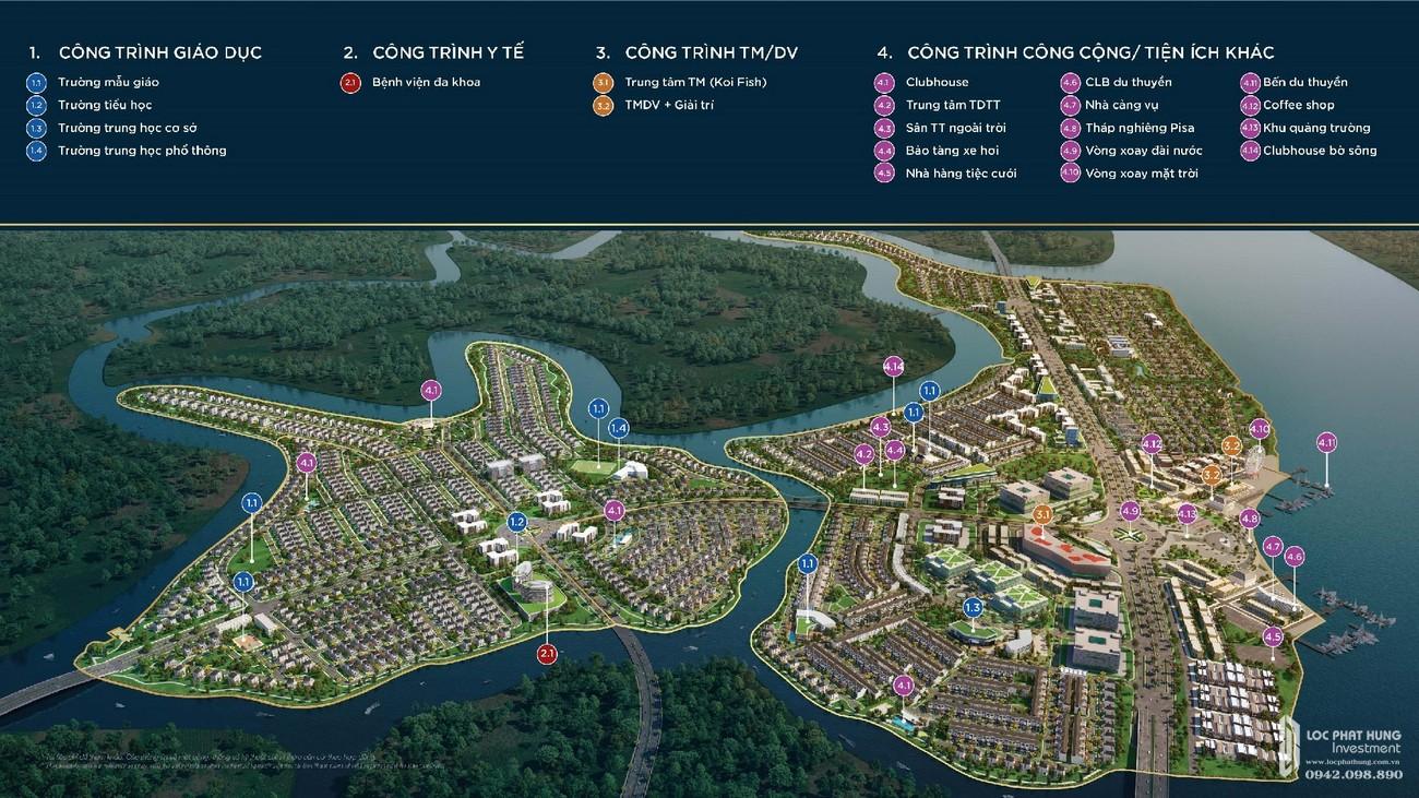Tiện ích đầy đủ của dự án Aqua City nhà phát triển Novaland