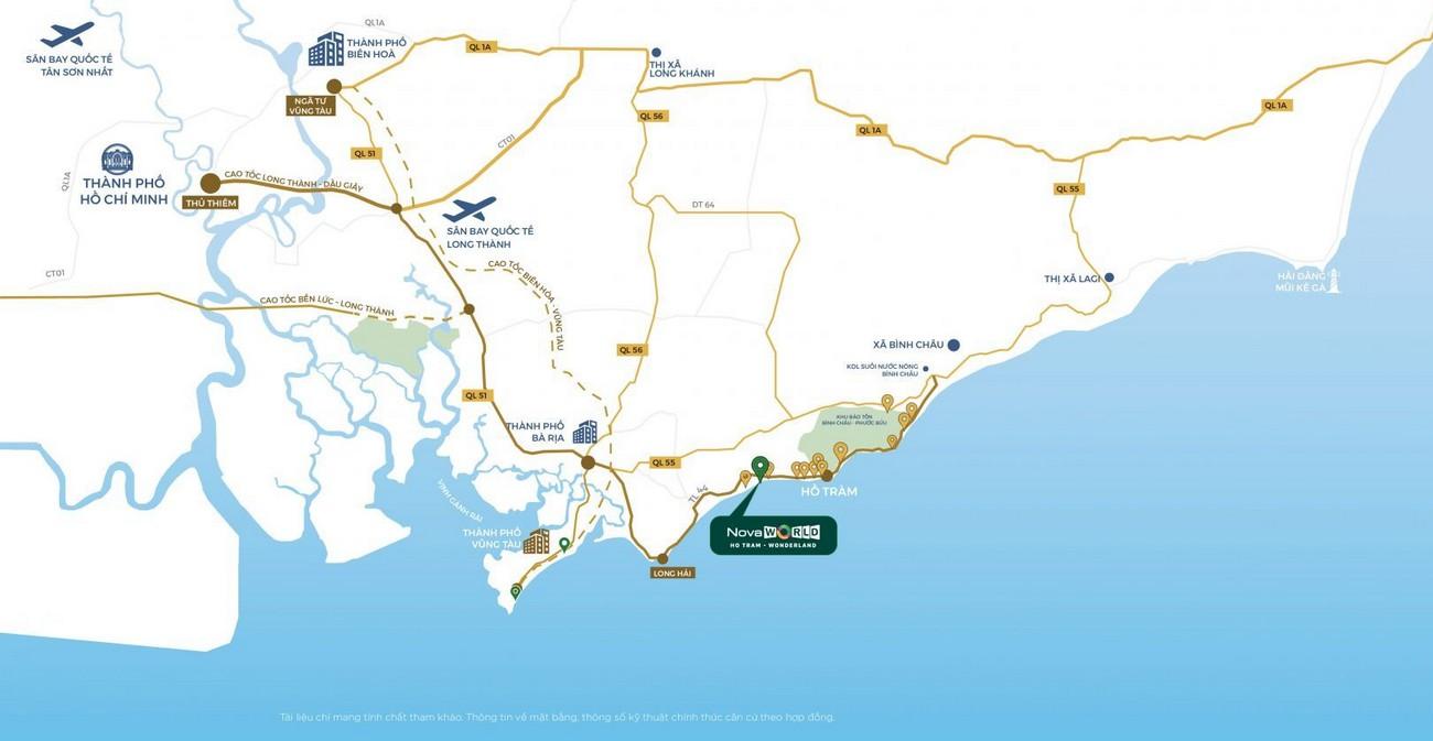 Địa chỉ chính xác dự án Habana Island Novaworld Hồ Tràm