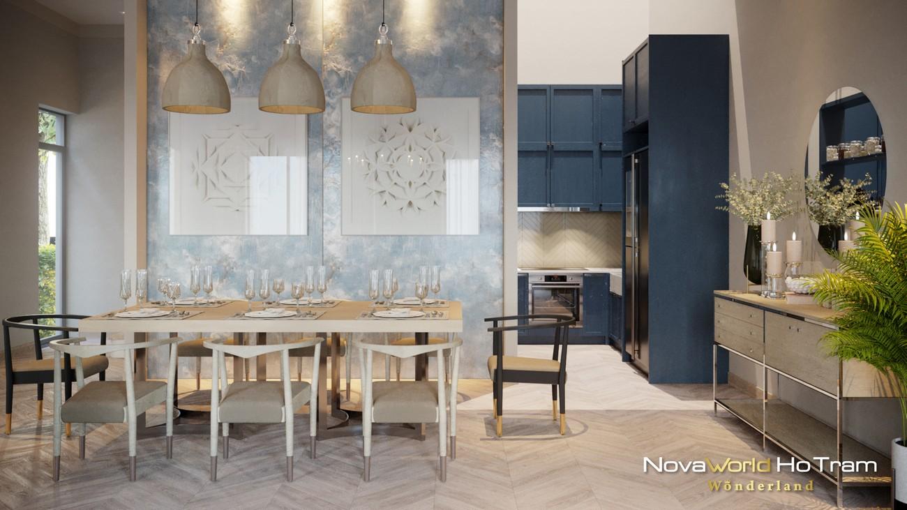 Mẫu thiết kế biệt phòng bếp - nhà ăn thự dự án nhà phố, biệt thự Habana Island Novaworld Hồ Tràm Bà Rịa Vũng Tàu
