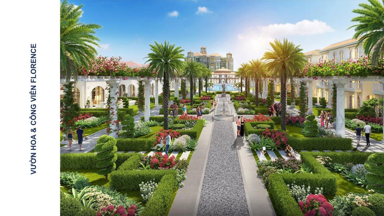 Vườn hoa công viên Florence Habana Island Novaworld Hồ Tràm