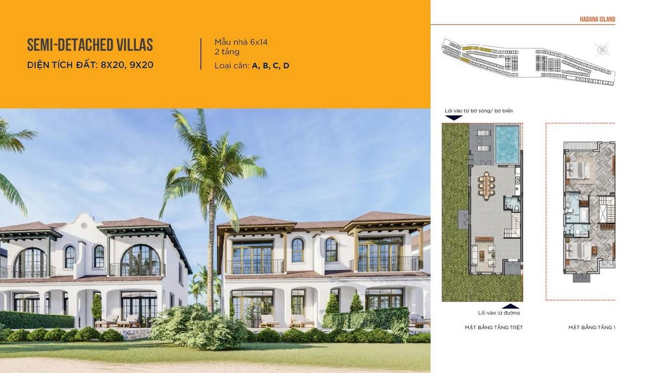 Biệt thự song lập dự án nhà phố biệt thự Island Habana Novaworld Hồ Tràm