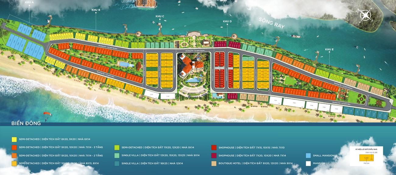 Mặt bằng tổng thể dự án Habana Island nhà phát triển Novaland