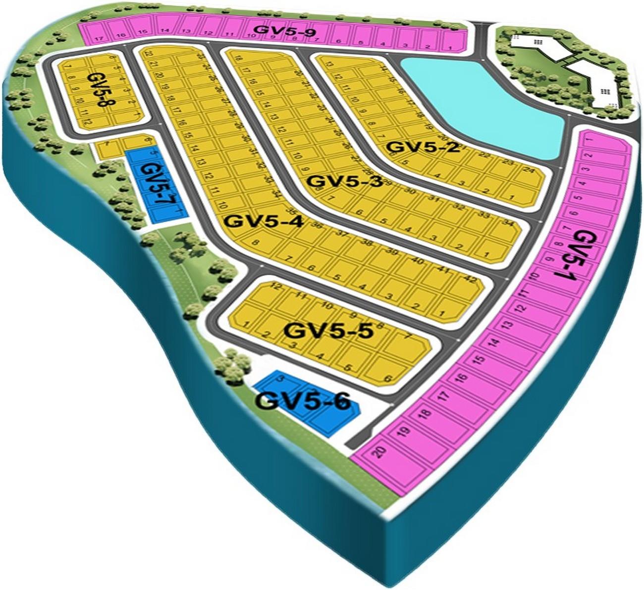 Mặt bằng dự án biệt thự Aqua City The Grand Villas Biên Hòa  Đường Long Hưng nhà phát triển Novaland