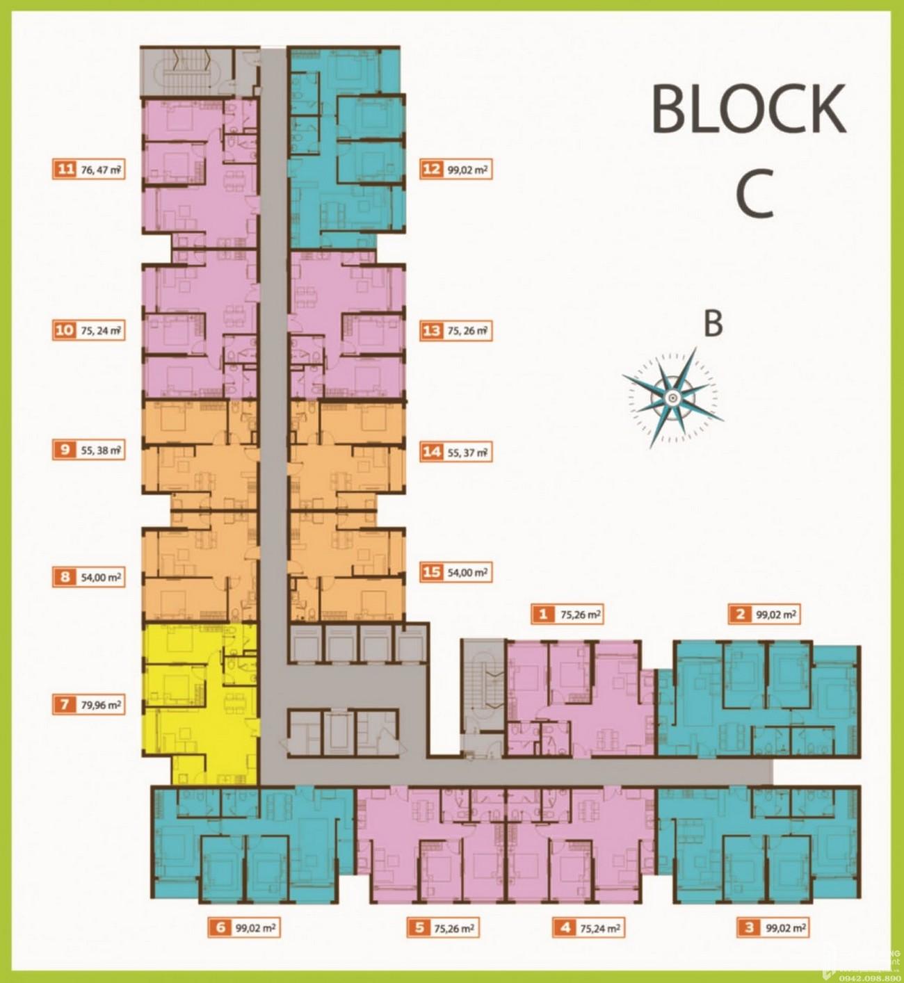 Mặt bằng dự án căn hộ chung cư Palacio Garden Tân Bình Đường 678 Âu Cơ chủ đầu tư Seaprodexsg