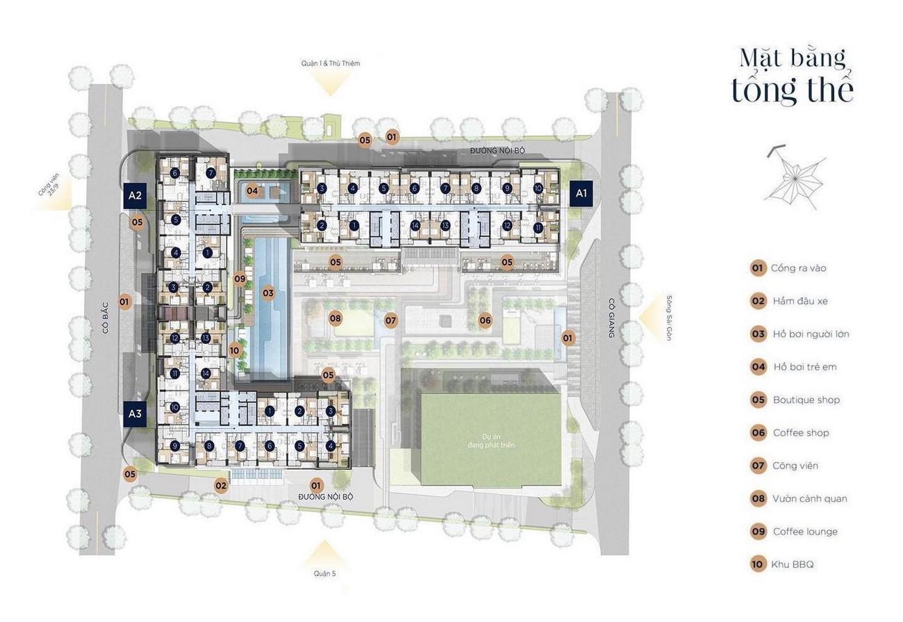 Mặt bằng dự án căn hộ chung cư The Grand Manhattan Quận 1 Đường 100 Cô Giang  chủ đầu tư Novaland