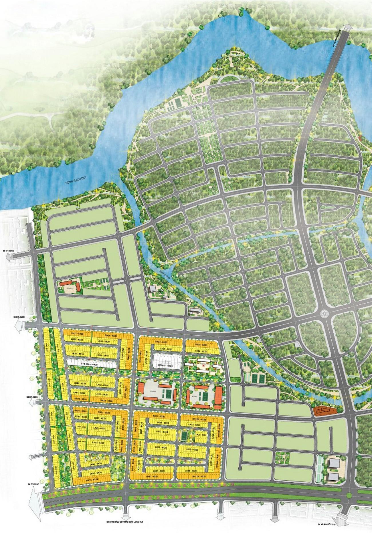Mặt bằng dự án đất nền T&T Millennia City Cần Giuộc Đường Lê Văn Lương chủ đầu tư T&T Group