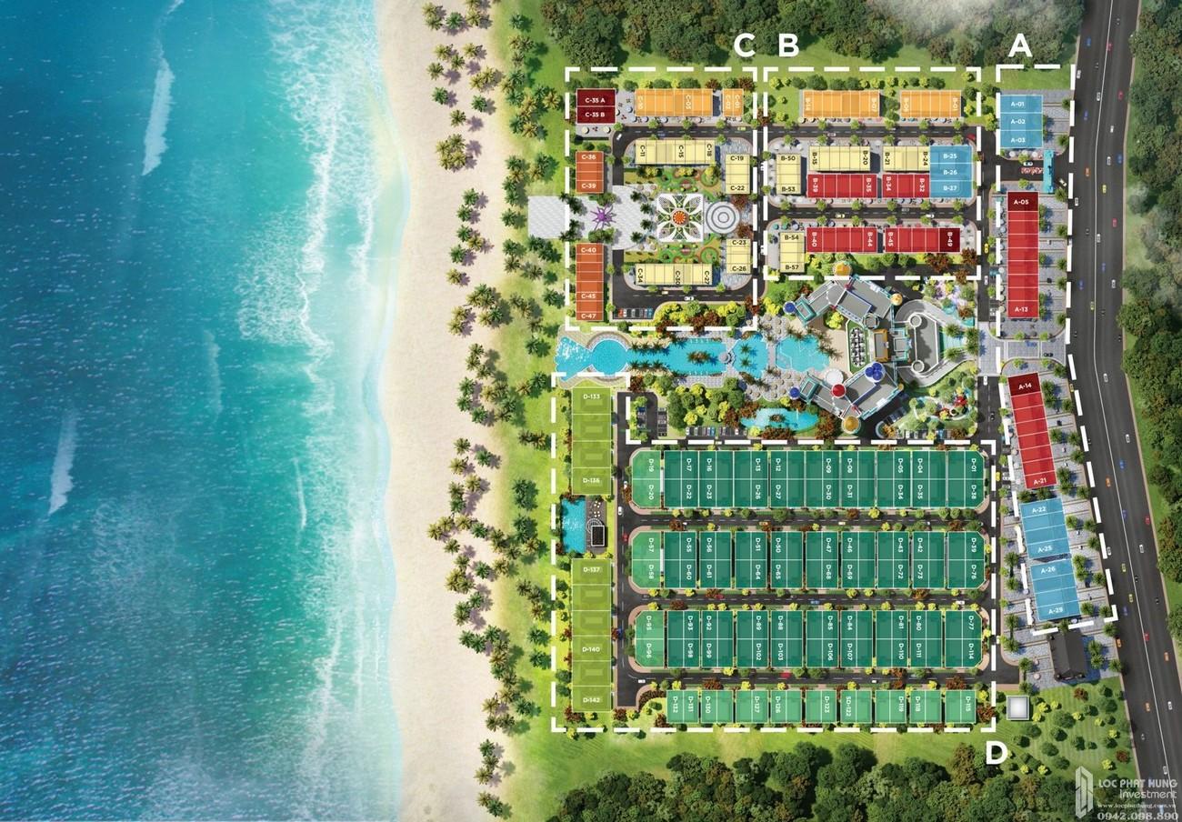 Mặt bằng dự án nhà phố Novaworld Hồ Tràm Wonderland Xuyên Mộc Đường Phước Thuận chủ đầu tư Novaland