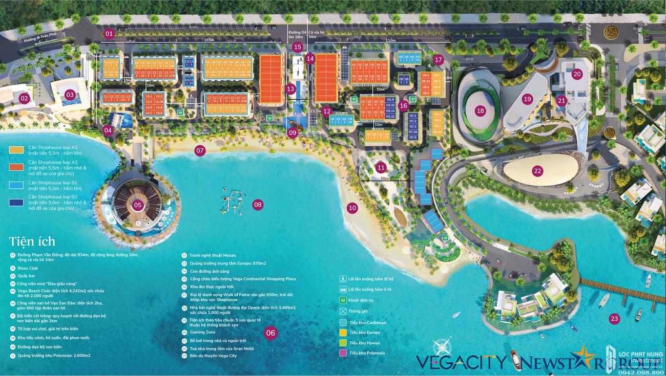 Mặt bằng tổng thể dự án Vega City Nha Trang
