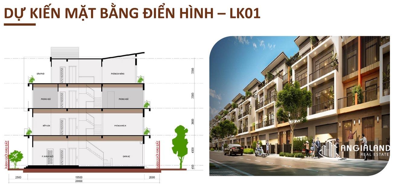 Thiết kế chi tiết nhà phố liền kề T&T Millennia City Long Hậu