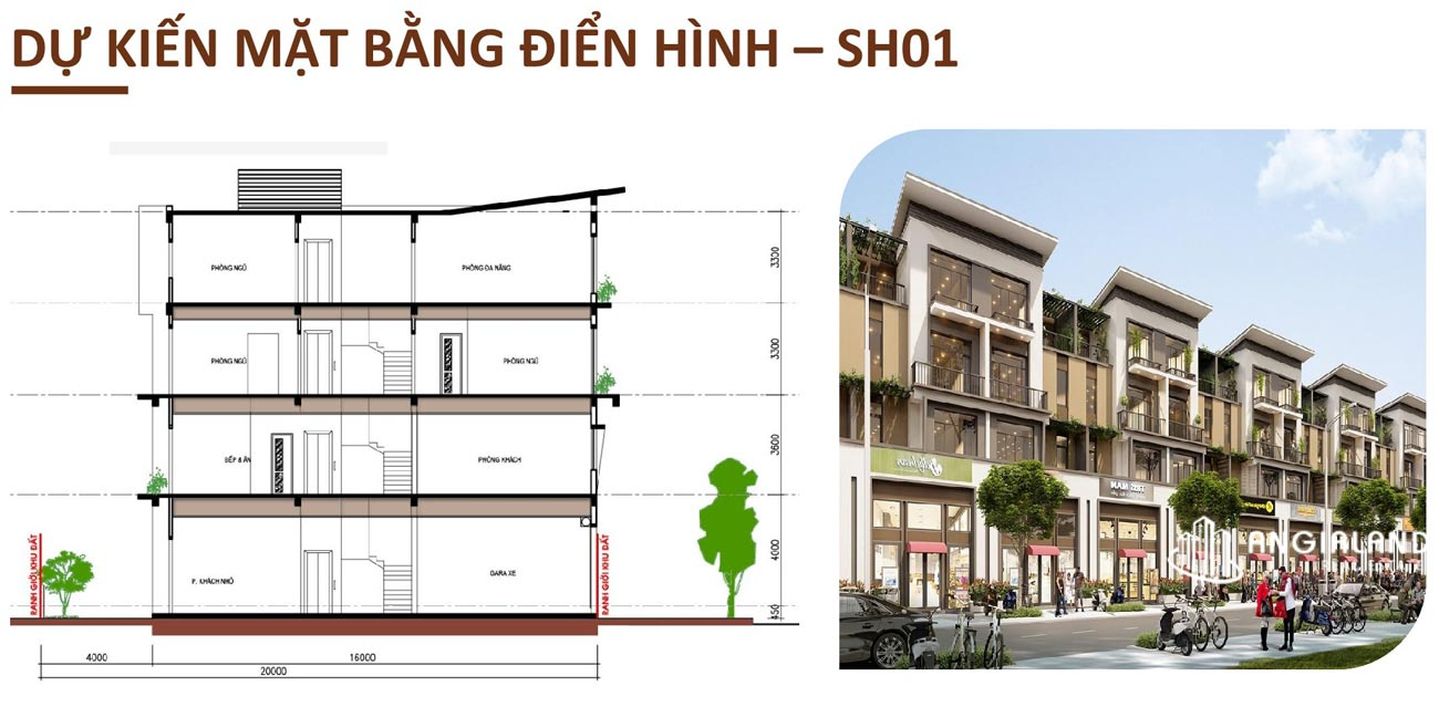 Thiết kế chi tiết Shophouse T&T Millennia City Long Hậu