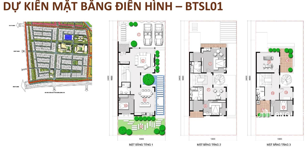 Thiết kế chi tiết Biệt Thự Song Lập T&T Millennia City Long Hậu