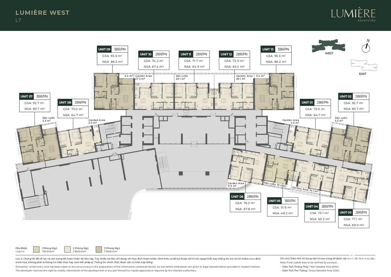 Mặt bằng dự án căn hộ chung cư Masterise Lumière Riverside Quận 2 Đường Xa Lộ Hà Nội chủ đầu tư Masterise Homes