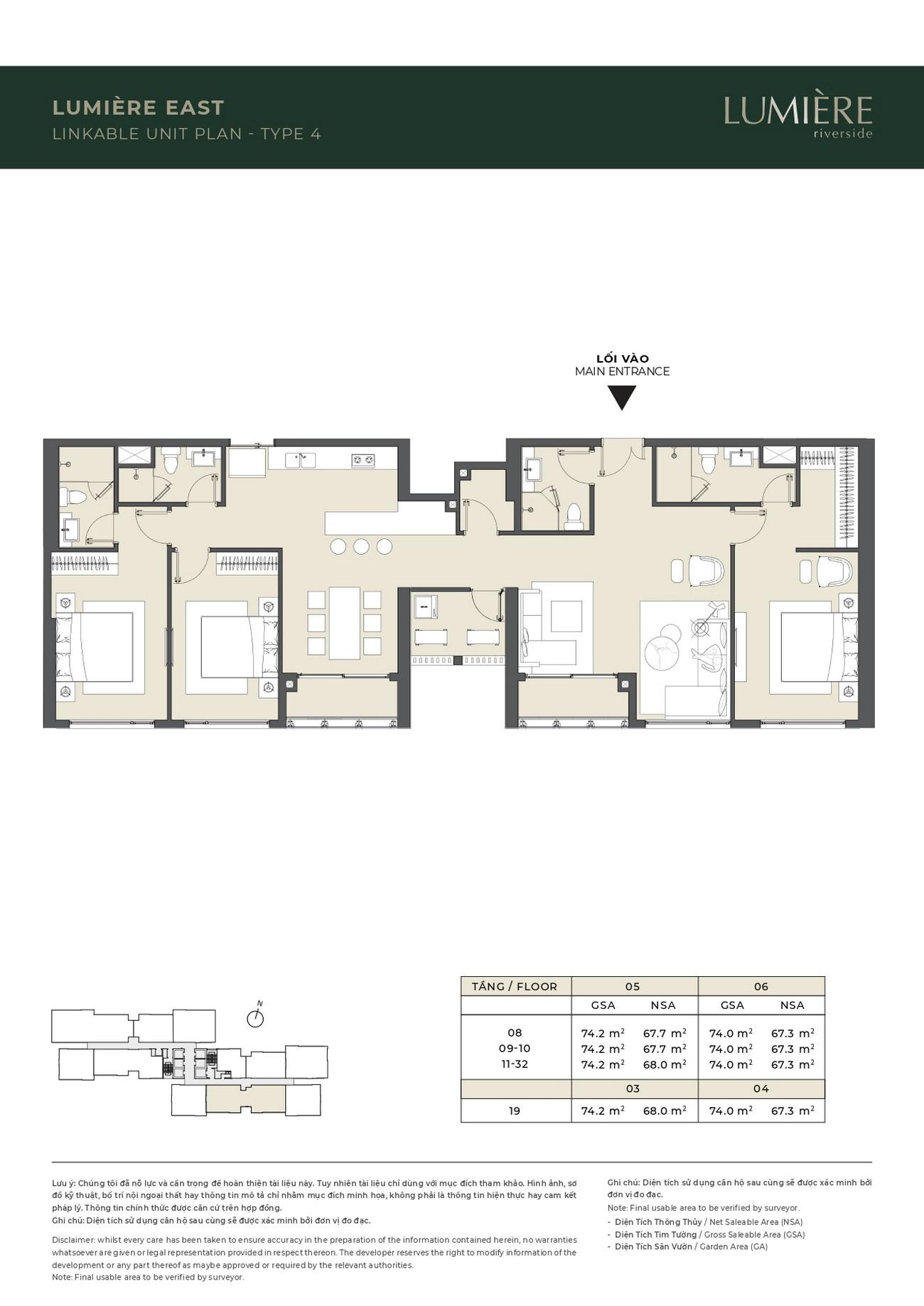 Thiết kế Masteri Lumiere Riverside: Căn hộ ghép – 0942.098.890