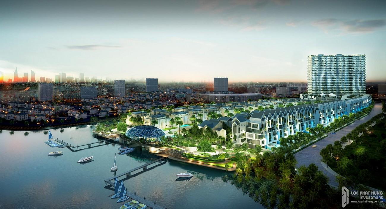 Phối cảnh tổng thể dự án TNR Viva Panorama Quận 7 hướng từ sông Cả Cấm