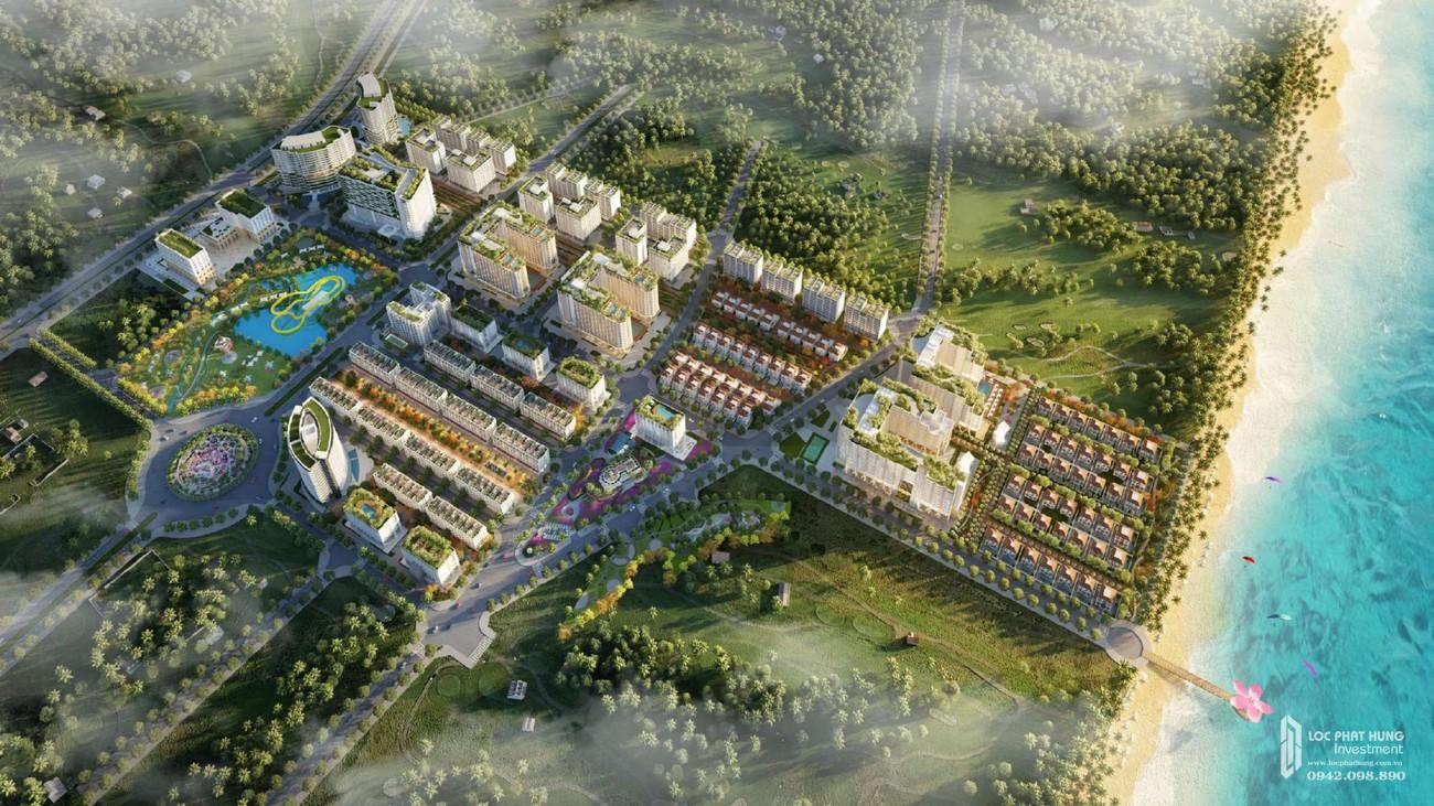 Phối cảnh dự án căn hộ condotel Sim Island Phú Quốc Đường Bãi Trường chủ đầu tư Hoàng Hải Phú Quốc