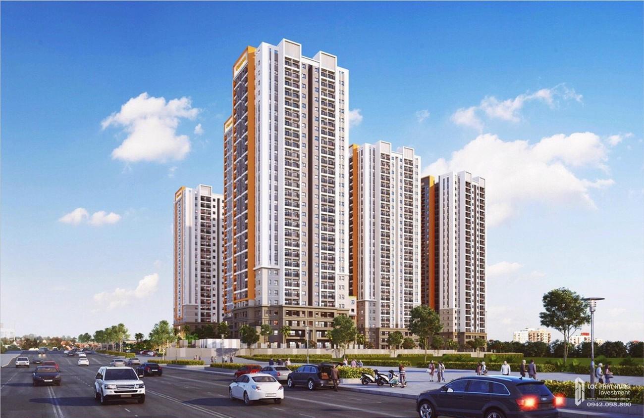 Phối cảnh tổng thể dự án căn hộ chung cư Universe Complex Biên Hòa Đường Xa lộ Hà Nội chủ đầu tư Hưng Thịnh