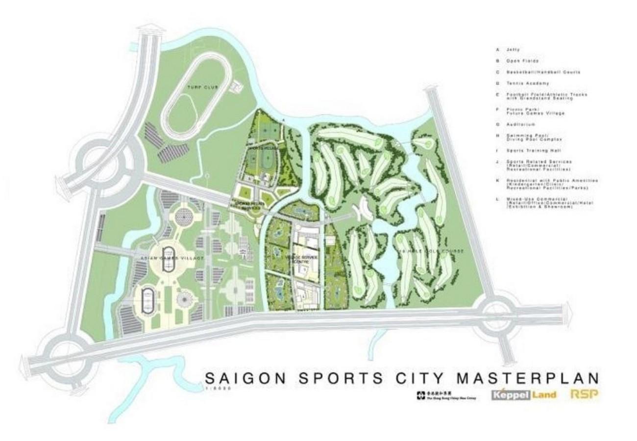 Mặt bằng dự án căn hộ chung cư Saigon Sports City Quận 2 Đường An Phú chủ đầu tư Keppel Land