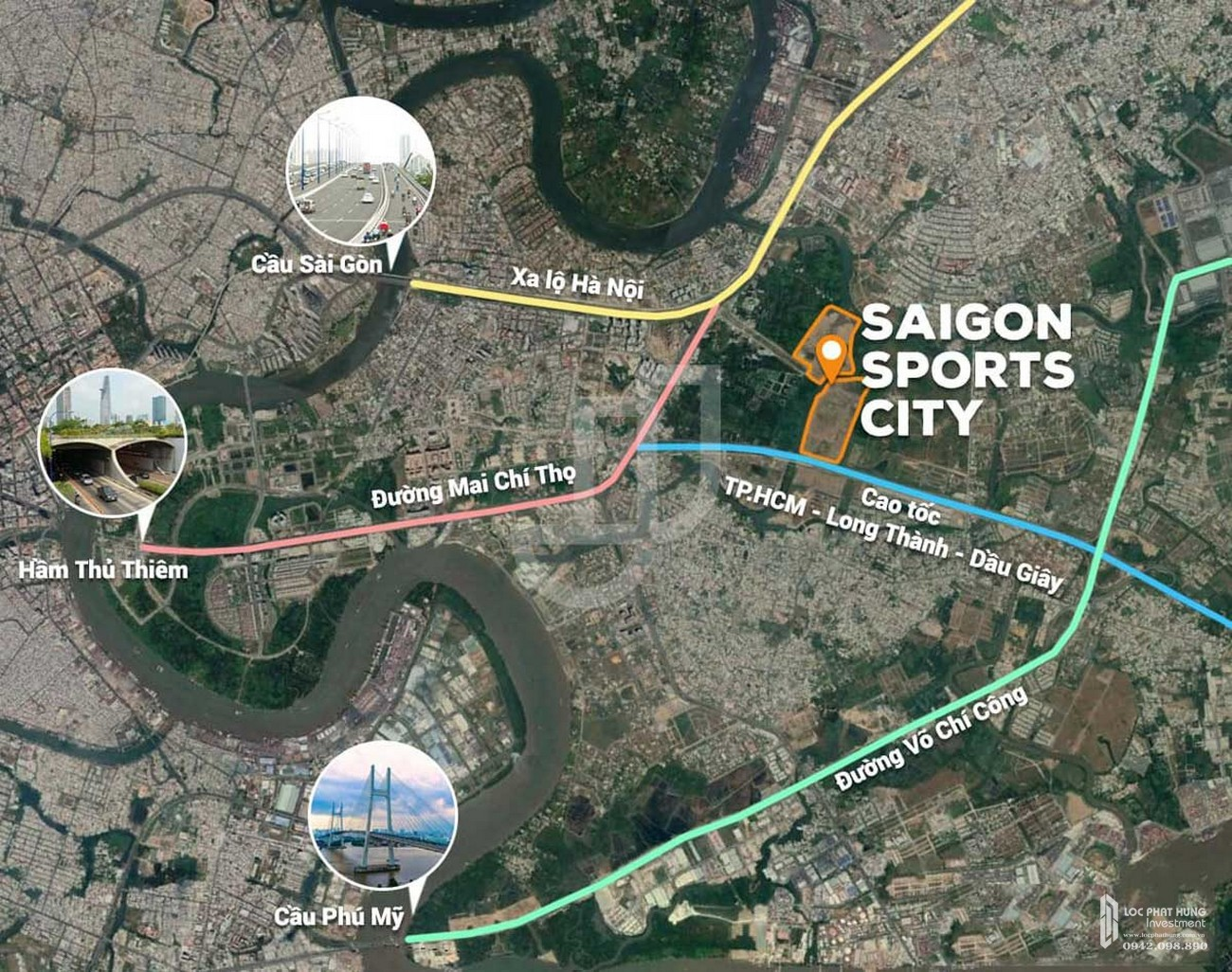 Vị trí địa chỉ dự án căn hộ chung cư Saigon Sports City Quận 2 Đường An Phú chủ đầu tư Keppel Land