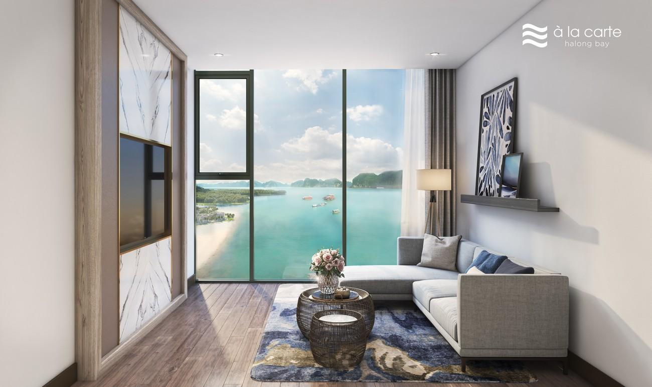 Nhà mẫu căn hộ 2 PN Condotel À La Carte Halong Bay Hạ Long Đường Mặt Vịnh Hạ Long chủ đầu tư TASECO Land