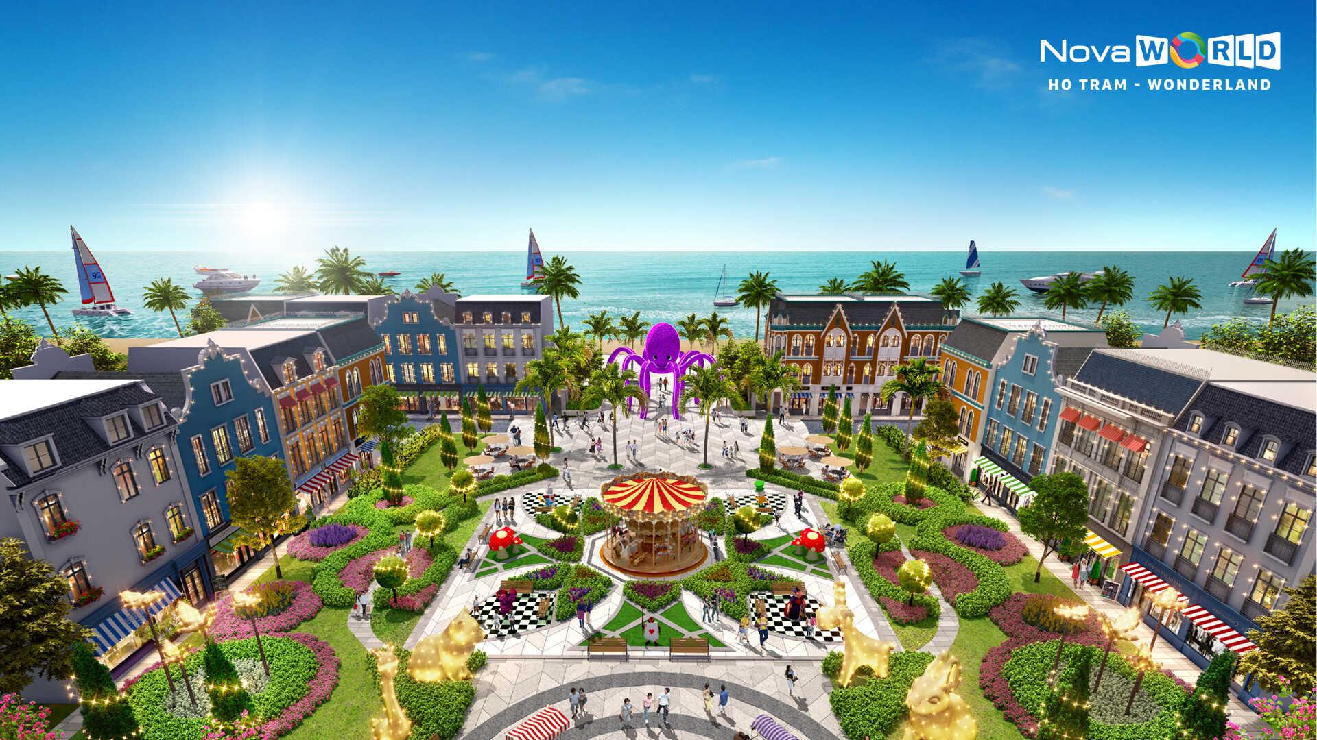 Phối cảnh tổng thể dự án nhà phố Novaworld Hồ Tràm Wonderland Xuyên Mộc Đường Phước Thuận chủ đầu tư Novaland