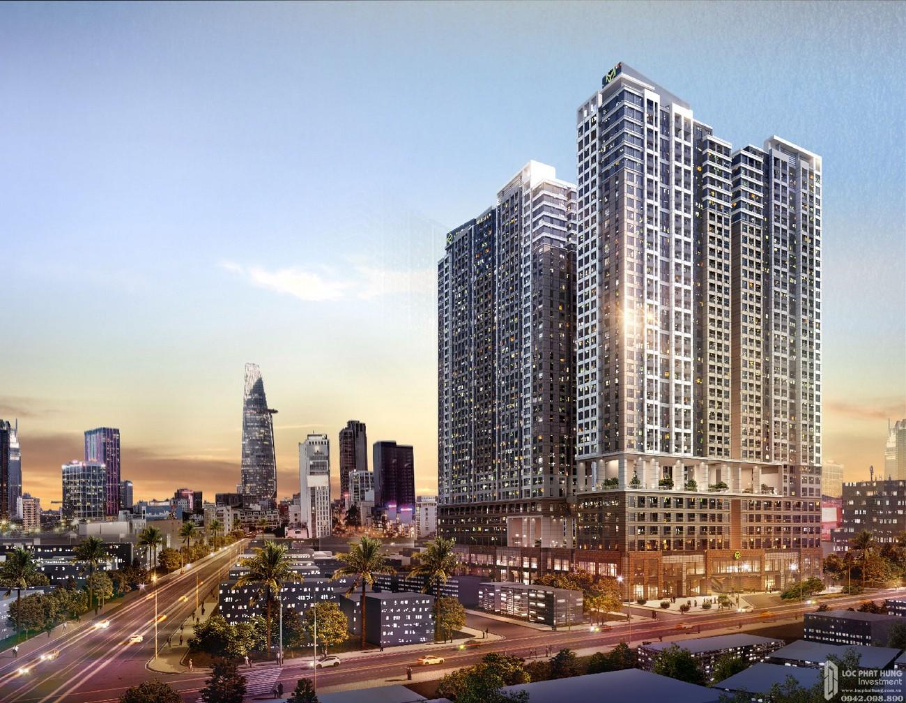 Phối cảnh tổng thể dự án căn hộ chung cư The Grand Manhattan Quận 1 Đường 100 Cô Giang nhà phát triển Novaland