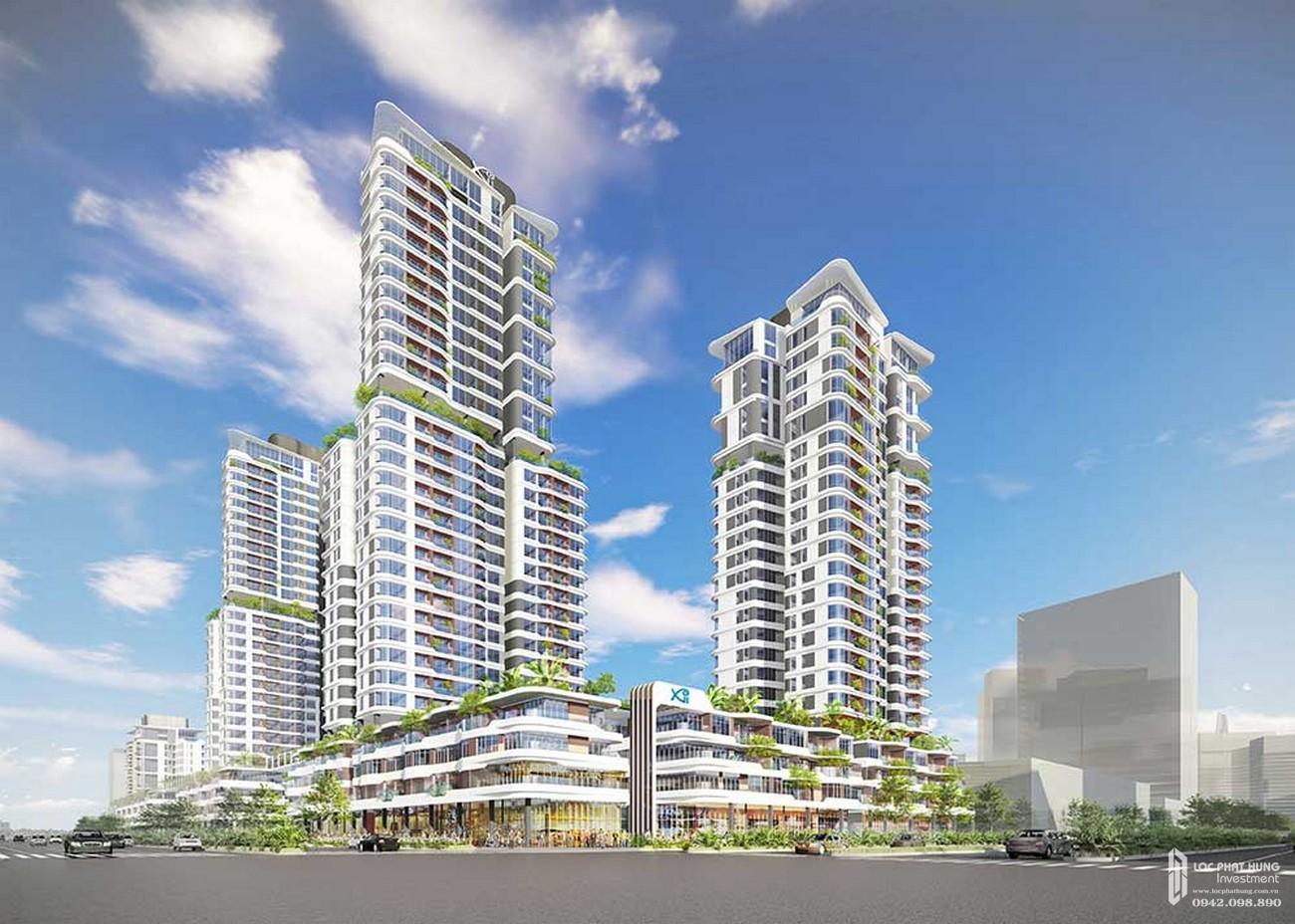 Phối cảnh tổng thể dự án căn hộ chung cư Thủ Thiêm Zeit Quận 2 Đường Nguyễn Cơ Thạch chủ đầu tư GS E&C