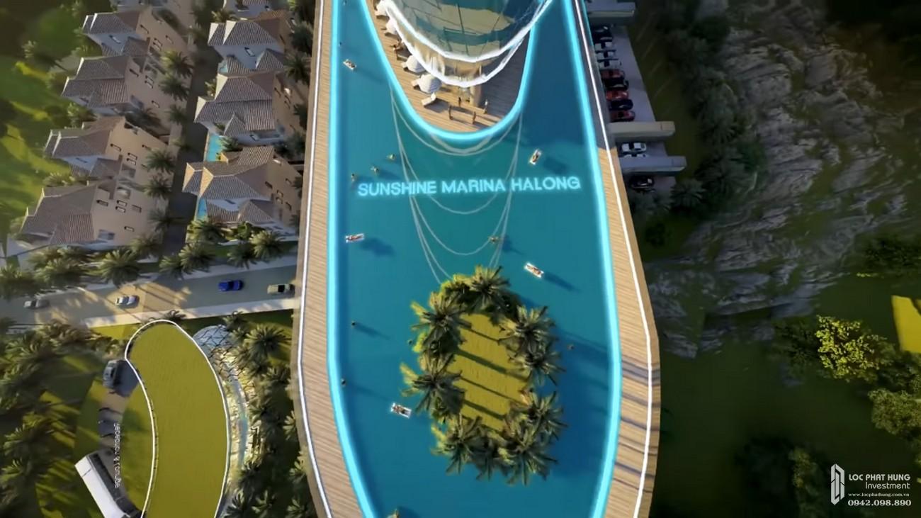 Phối cảnh tổng thể dự án Condotel chung cư Sunshine Marina Hạ Long Bay Hạ Long Đường Bãi Cháy chủ đầu tư Sunshine Group