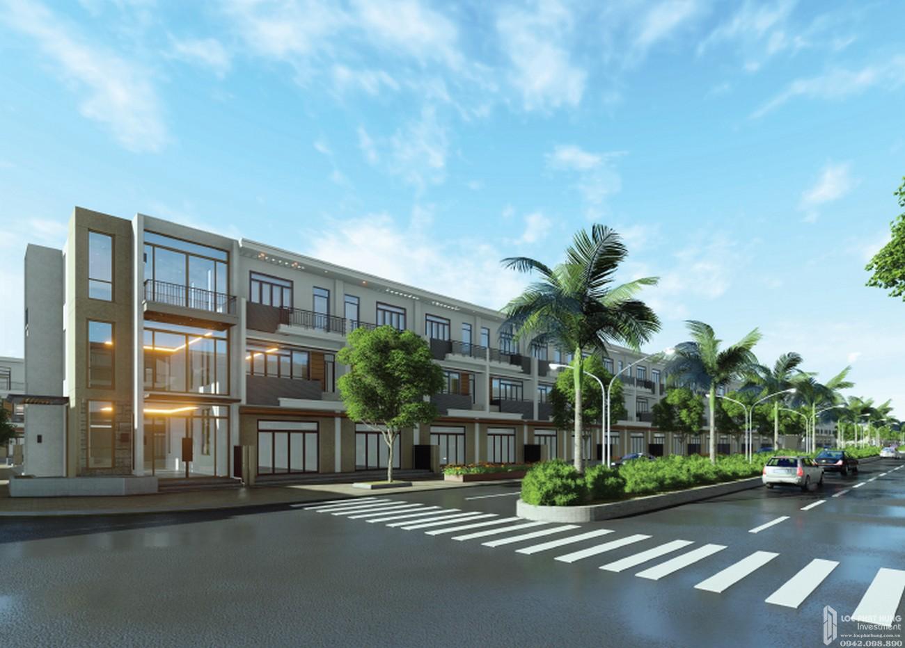 Phối cảnh dự án đất nền nhà phố The Sun Residence Nhà Bè Đường Huỳnh Tấn Phát chủ đầu tư Đại Phú Vinh